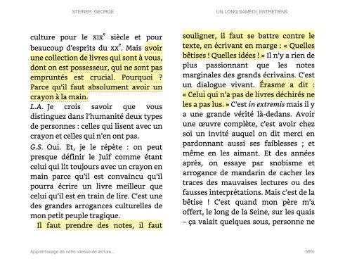 G. Steiner, un long samedi, entretiens avec L. Adler (2014).
